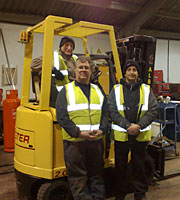 Commtronix Personnel undergoing Fork Lift Training